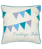 George Home Bunting Cushion - 43x43cm