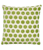 George Home  Green Spot Chenille Cushion - 40x40cm