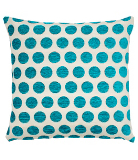George Home  Teal Spot Chenille Cushion - 40x40cm