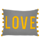 George Home Grey Love Felt Cushion - 40x50cm