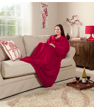 ASDA Sleeved Blanket - Red