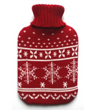 ASDA Hot Water Bottle with Knitted Cover