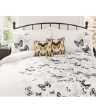 George Home Monochrome Butterfly Duvet Set - Various Sizes