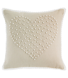 George Home French Knot Heart Cushion