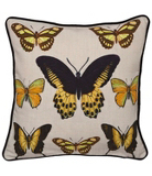 George Home Yellow Butterfly Cushion