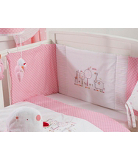 Red Kite Hello Ernest Cosi Cot Bedding Set - Pink
