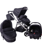 Red Kite Push Me Zebu 3-in-1 Travel System - Onyx