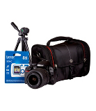 Nikon D3100 SLR 18-55mm VR Lens Kit inc. System Bag, Tripod and 8GB SDHC - Black