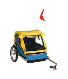 Weeride 2 Seater Bike Trailer - Yellow and Blue