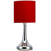 ASDA Chrome Table Lamp - Red