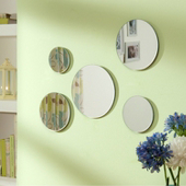 Set of 5 Circular Mirrors