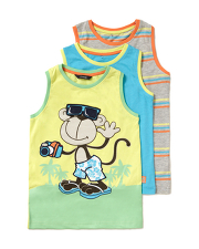 3 Pack Vest Tops - George