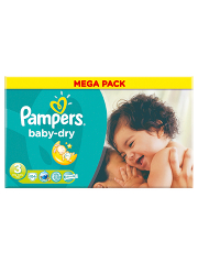 Pampers Baby Dry Size 3 Midi 4kg-9kg Mega Box 104 Nappies