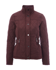 Quilted Jacket - Burgundy