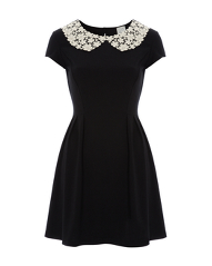 G21 Crochet Collar Dress