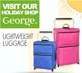 Luggage available from the George holiday shop
