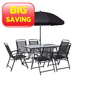 Asda sale on the cuba 8 piece patio set perfect for summer for Summer patio furniture sale