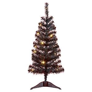 3ft pre lit black christmas tree r c asda hot uk. Black Bedroom Furniture Sets. Home Design Ideas