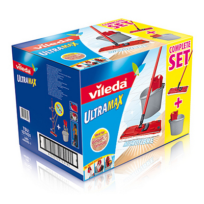 Vileda Ultramax Mop And Bucket Set Cleaning Asda Direct