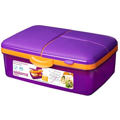 sistema purple slimline quaddie lunch box kids dining. Black Bedroom Furniture Sets. Home Design Ideas