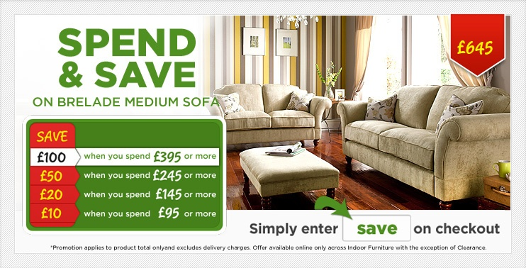 Spend and Save Brelade Medium Sofa