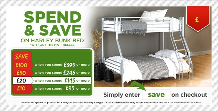 Spend and Save Harley Bunk Bed Without Mattress