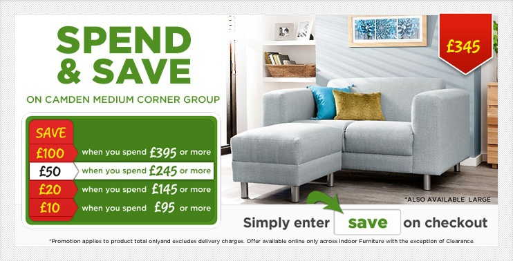 Spend and Save Camden Medium Corner Sofa