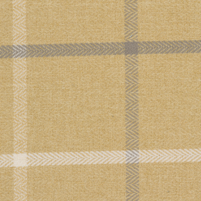 Mustard Woven Herringbone Window Pane