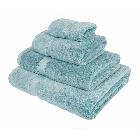 George Home 100 Egyptian Cotton Towel And Bath Mat Range Duck Egg Bath M