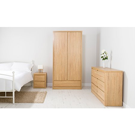 George home leighton bedroom furniture range oak effect for Bedroom furniture sets george