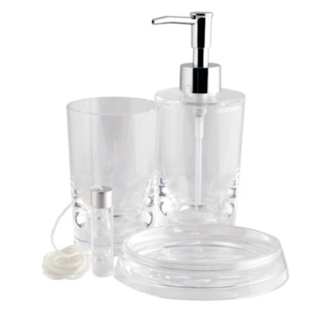 George Home Clear Acrylic Bath Accessories Range