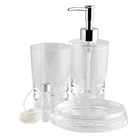 George home accessories clear acrylic bathroom for Clear bathroom accessories