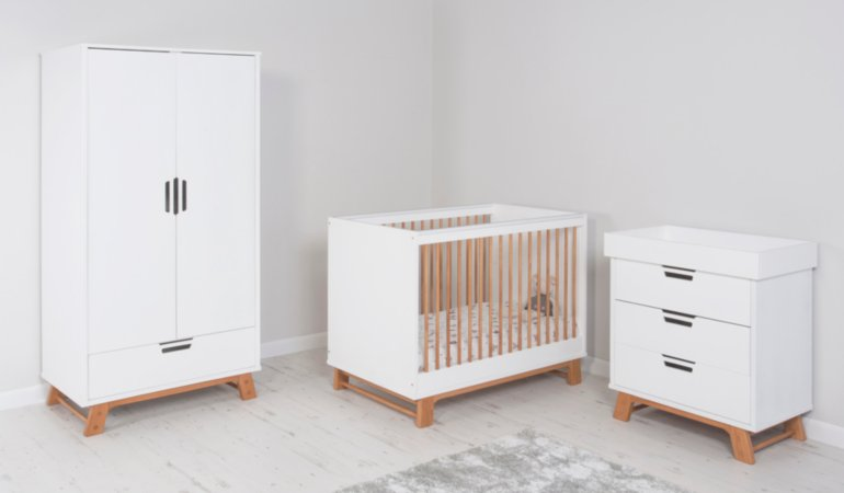 George Home Alfie Nursery Furniture Range - Oak Effect and White