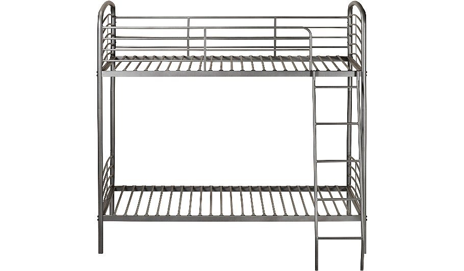 George home metal detachable bunk bed grey beds for Detachable bunk beds
