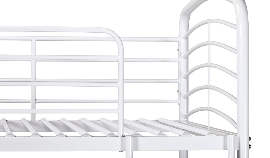George Home Metal Detachable Bunk Bed - White