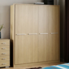 Detroit 4 Door Plain Wardrobe - Oak Effect