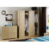 Detroit 4 Door Plain Wardrobe - Oak Effect alternative view