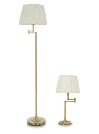 George Home Brass Effect Swing Arm Lighting Range