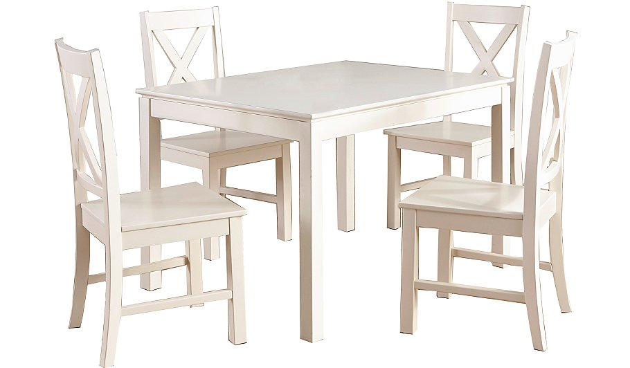 George Home Gilmore Dining Table And 4 Chairs Cream Dining Tables C