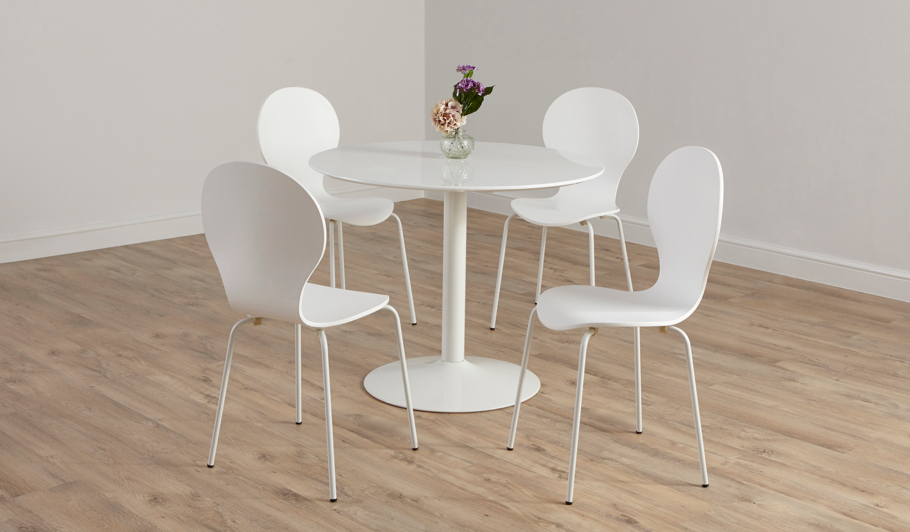 George Home Wyatt Circular Dining Table and 4 Chairs  : BUN17MIL003Chei532ampwid910ampqlt85ampfmtpjpgampresmodesharpampopusm110 from direct.asda.com size 910 x 532 jpeg 58kB