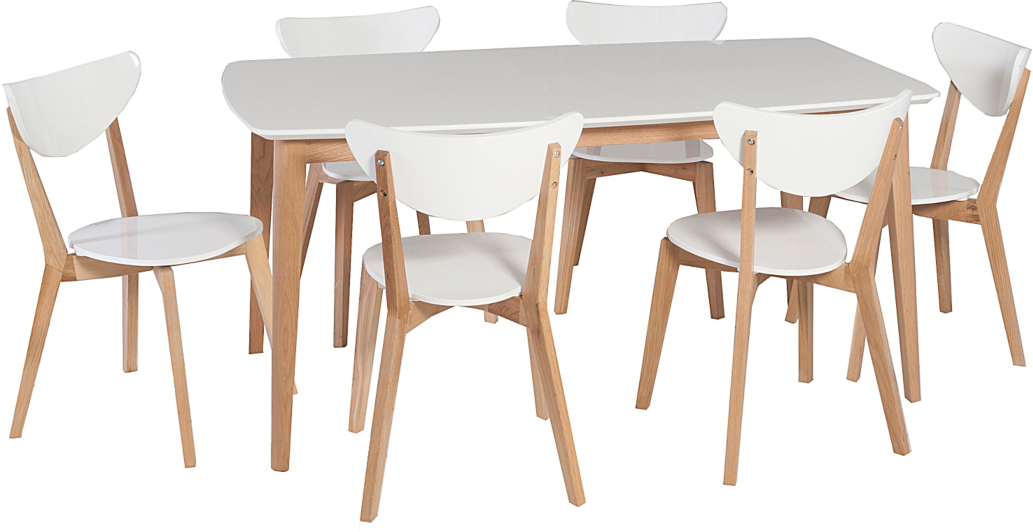 George Home Brooklyn Rectangular Dining Table and 6 Chairs  : BUN17MUN008hei532ampwid910ampqlt85ampfmtpjpgampresmodesharpampopusm110 from direct.asda.com size 910 x 532 jpeg 59kB