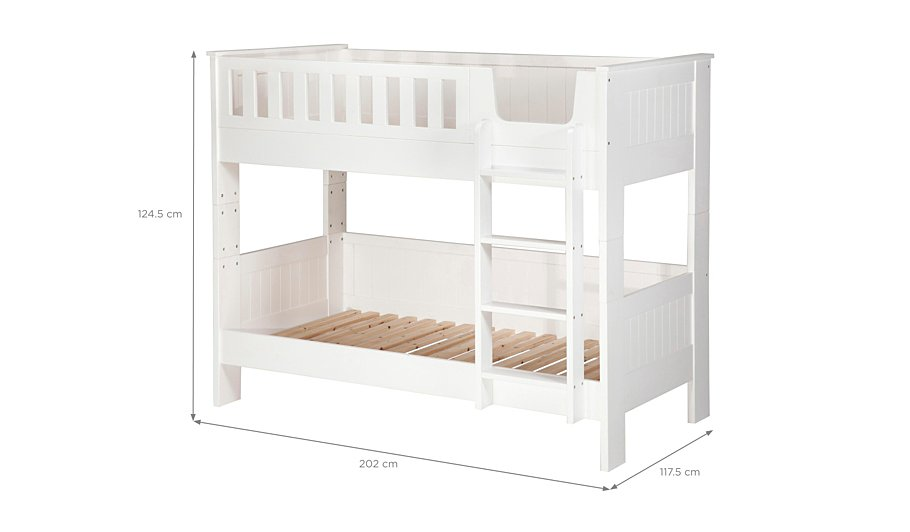 George home finley detachable bunk bed white beds for Detachable bunk beds