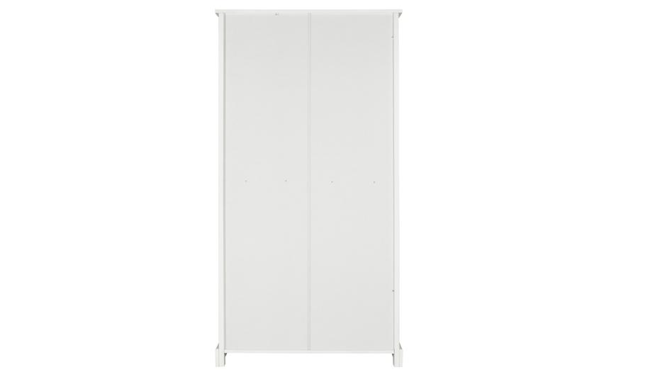 George Home Finley 2 Door 1 Drawer Wardrobe White