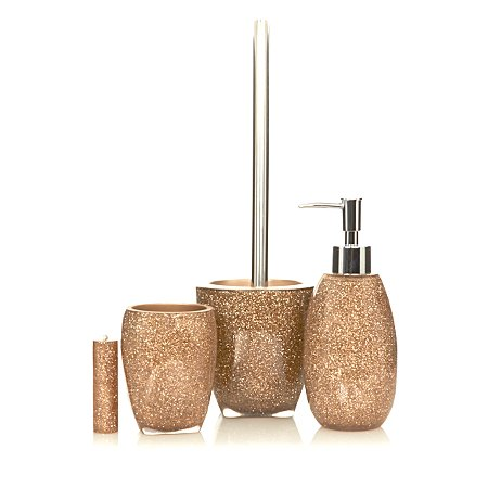 George home gold glitter bathroom accessories bathroom for Gold mosaic bathroom accessories