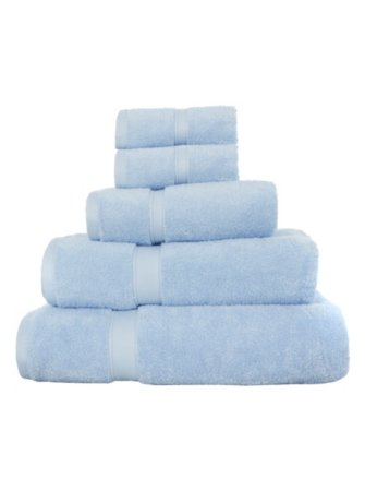 George Home 100% Egyptian Cotton Towel Range - Pale Blue