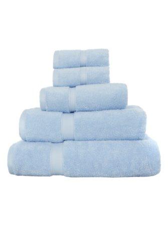 Super Soft Cotton Towel Range - Pale Blue