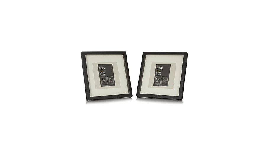 george home black boxed photo frame 6 x 6 inch 2 pack