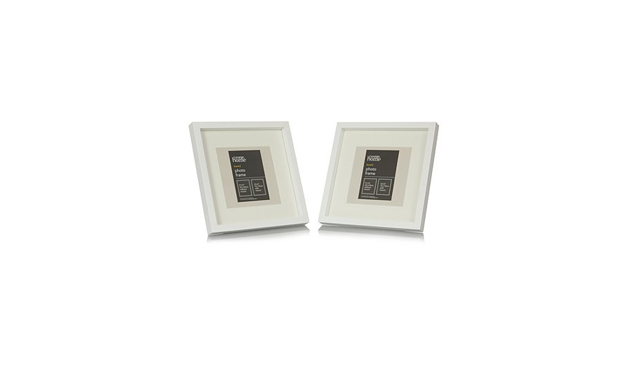 george home white boxed photo frame 6 x 6 inch 2 pack