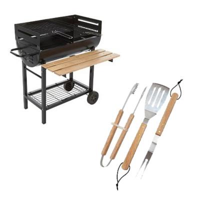 ASDA Twin Grill Wagon BBQ with free 3 piece BBQ tool set