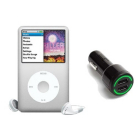 iPod Classic Silver with In Car Charger